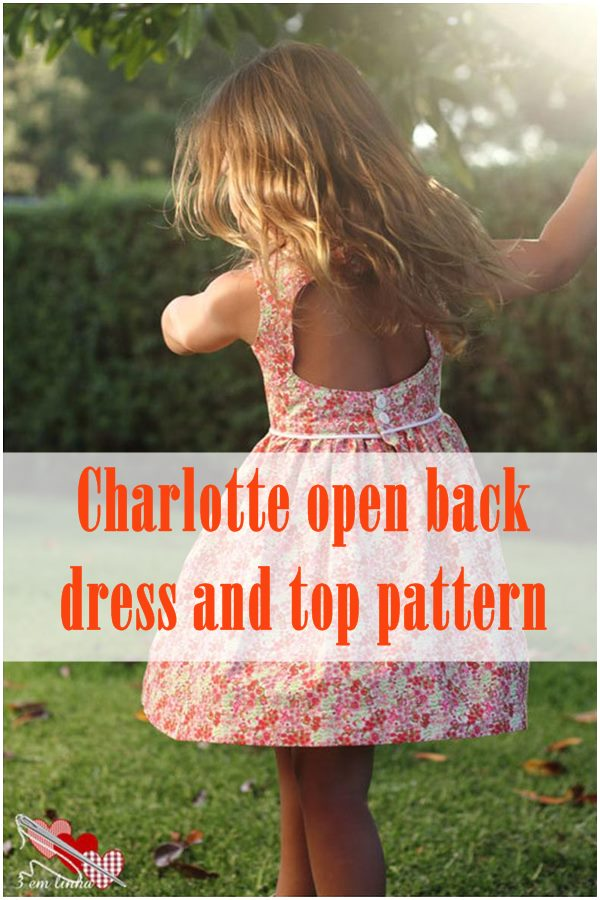 Charlotte open back dress and top pattern