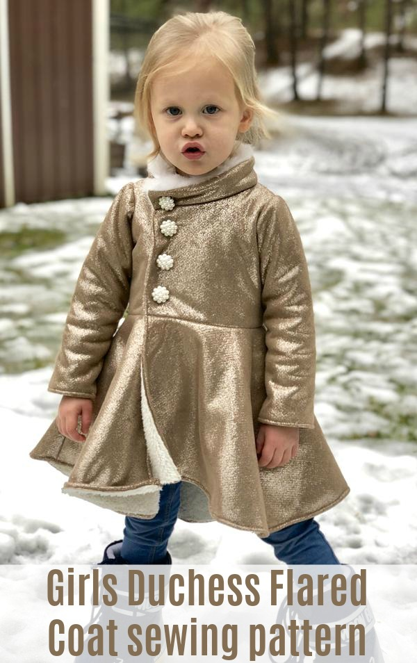 Girls Duchess Flared Coat sewing pattern