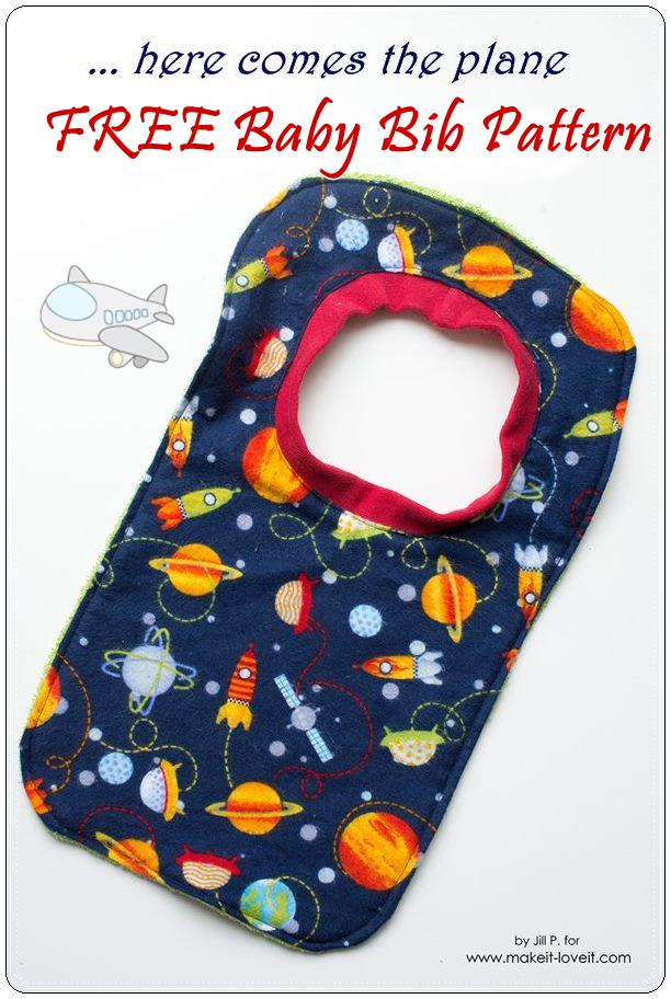 Free baby bib sewing pattern