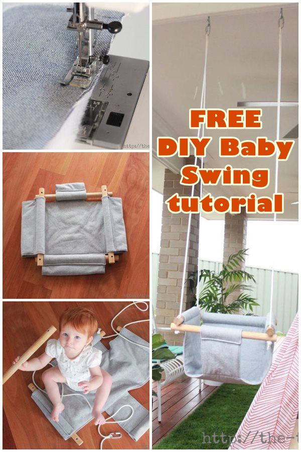 FREE DIY Baby Swing sewing pattern and tutorial