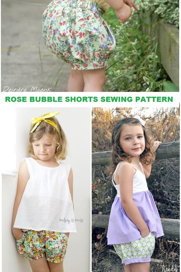 Rose Bubble Shorts for girls