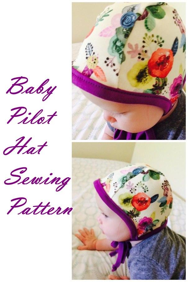 Baby Pilot Hat sewing pattern