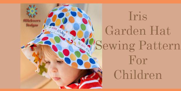 Iris Garden Hat Sewing Pattern For Children
