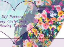 easy circle skirt sewing tutorial
