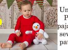 Unisex PJ's pajamas sewing pattern