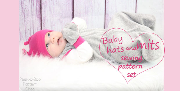 baby hats and mitts sewing pattern