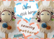 Llama stick horse sewing pattern