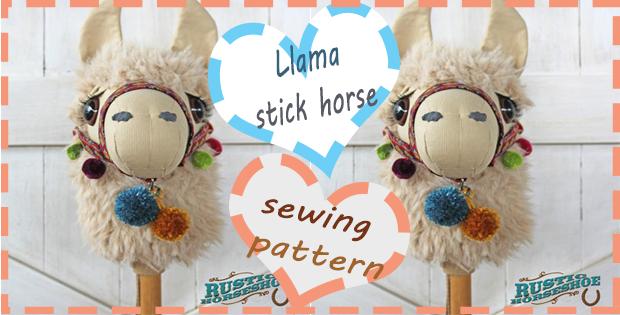 Llama stick horse sewing pattern