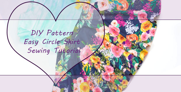 FREE Girls Circle Skirt sewing tutorial and pattern (any size)