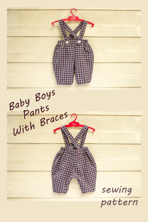 Baby Boys Pants With Braces pattern