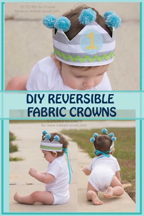 reversible fabric crown