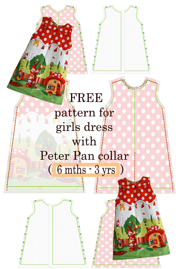 FREE girls dress with Peter Pan collar (6 months to 3 years)