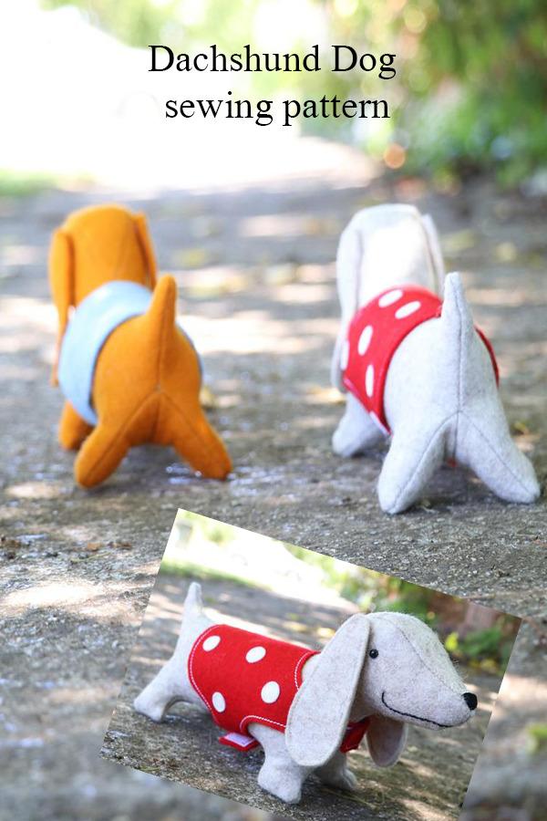 Dachshund Dog sewing pattern