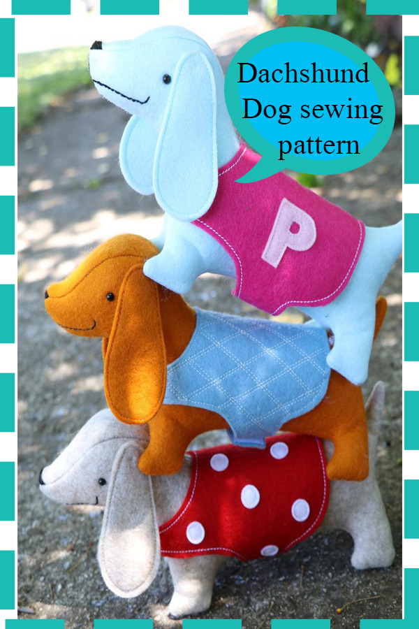 Dachshund Dog sewing pattern