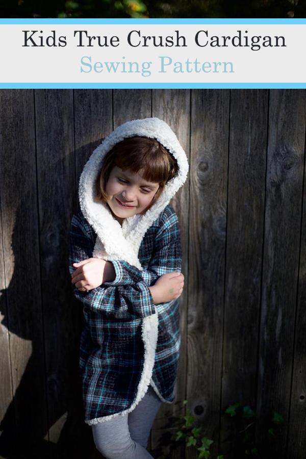 Unisex True Crush hooded cardigan sewing pattern (12mths-14yrs)