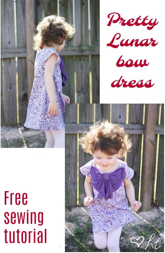 Lunar Bow Dress FREE sewing tutorial