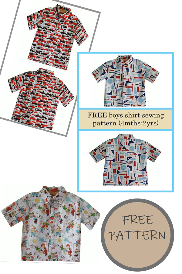 FREE boys shirt sewing pattern (4mths-2yrs)