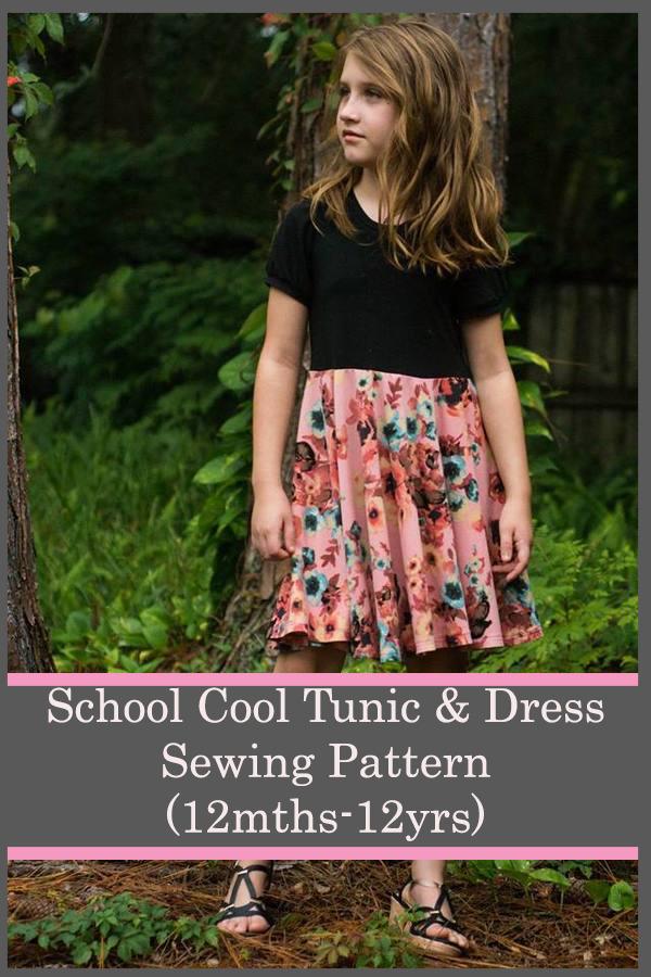 School Cool Tunic & Dress Pattern (12mths-12yrs)