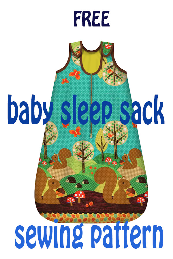 FREE baby sleep sack sewing pattern