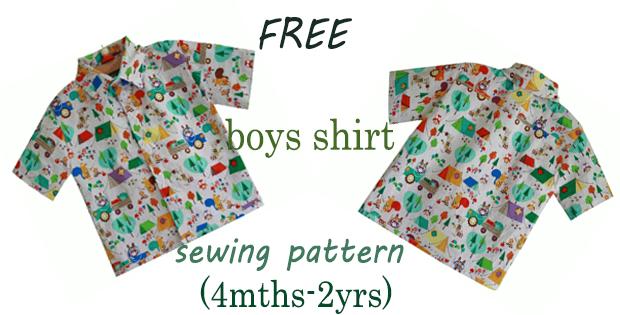 FREE boys shirt sewing pattern (4mths-2yrs)