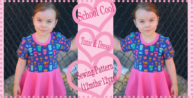 School Cool Tunic & Dress Pattern (12mths-12yrs)