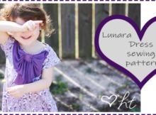 Lunara Bow Dress sewing pattern