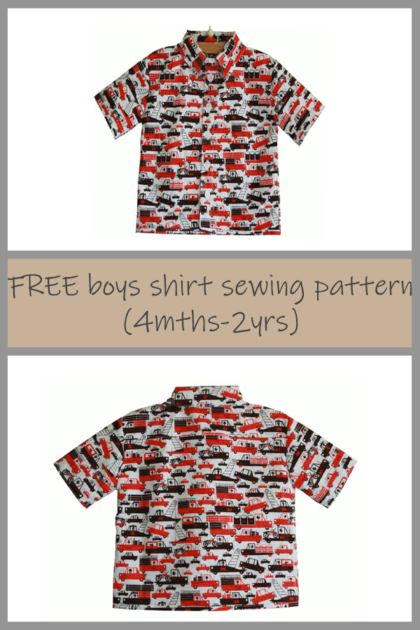 FREE Boys Shirt sewing pattern (4 months - 2 years)