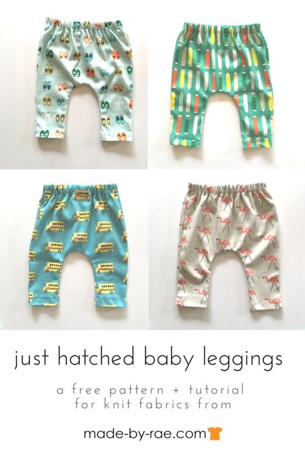Free Knit Baby Leggings sewing pattern