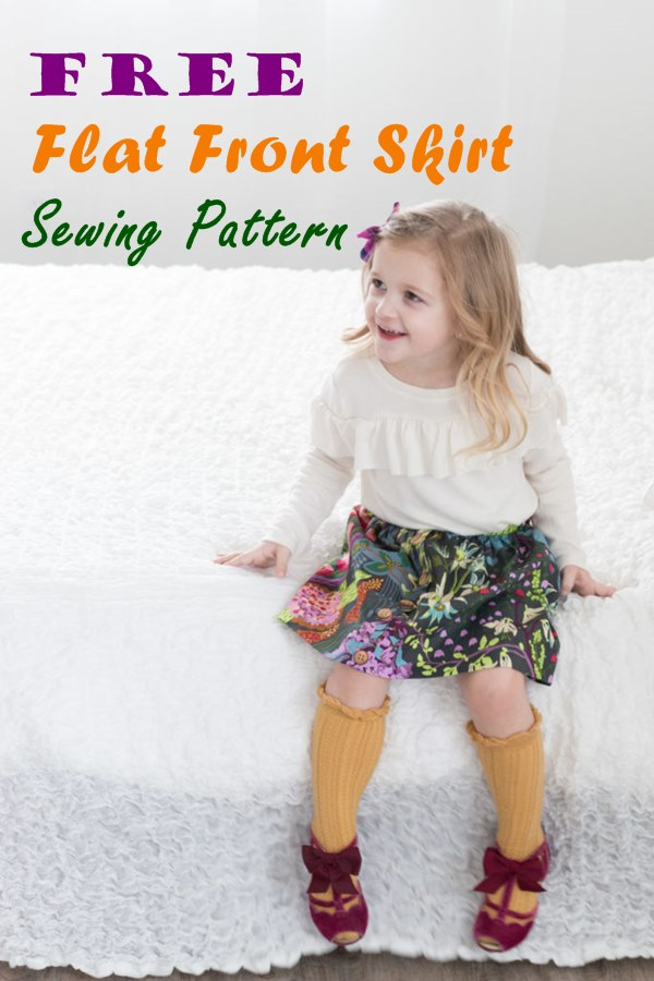 Free Flat Front skirt sewing pattern