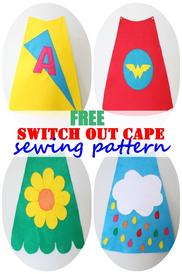 Free switch out cape sewing pattern
