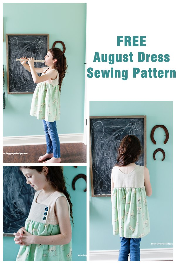 Free August Dress sewing pattern