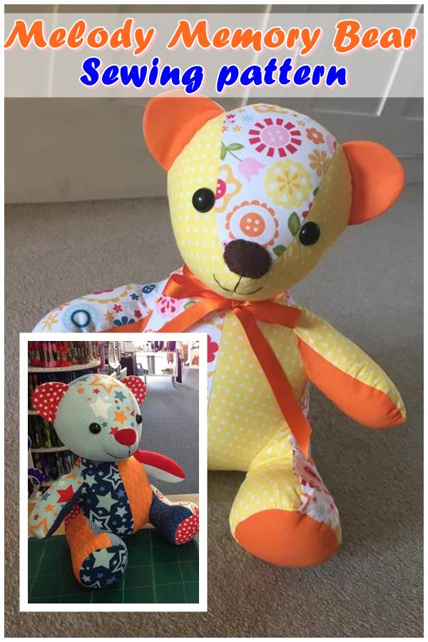 Melody Memory Bear Sewing pattern