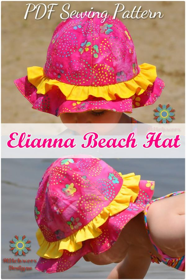 Elianna Beach Hat sewing pattern