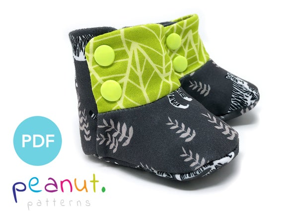 Knit Bootie Sewing Pattern