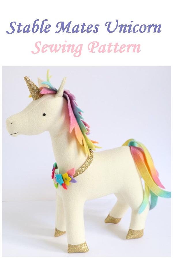 Stable Mates Unicorn Horse Donkey sewing pattern