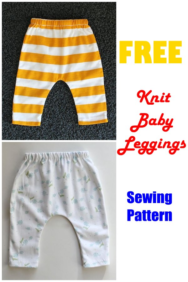 FREE Knit Baby Leggings sewing pattern