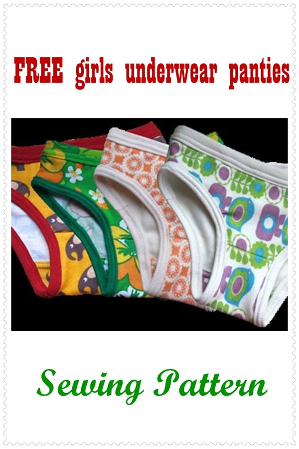 Free girls underwear panties sewing pattern