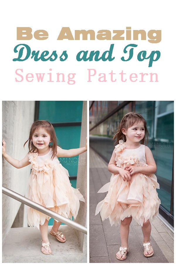 Be Amazing dress and top sewing pattern