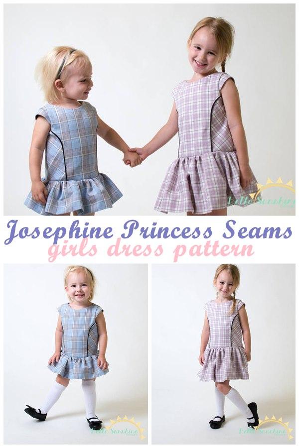 Josephine Princess Seams girls dress pattern