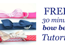 FREE 30 minute bow belt tutorial