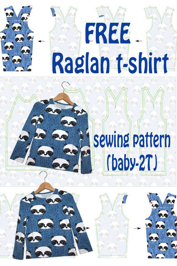 FREE raglan t-shirt sewing pattern (baby-2T)