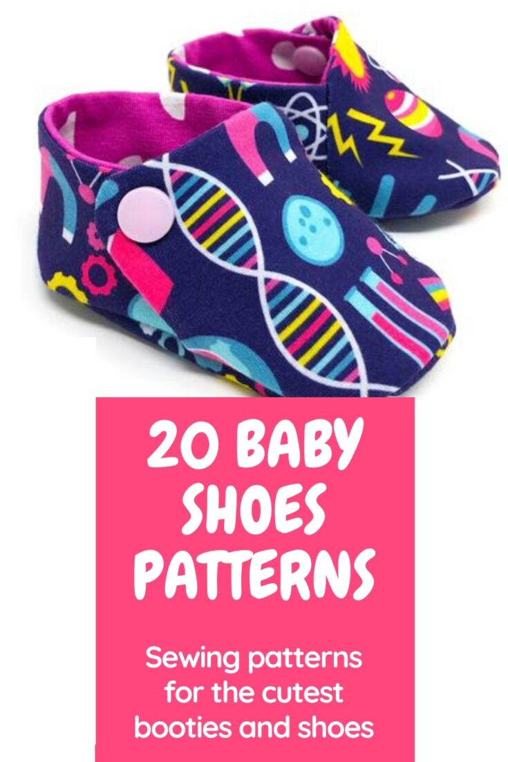Sewing patterns for the cutest baby shoes to sew. Sewing baby shoes is fun and rewarding and doesn't use more than a few scraps of fabric because they are so tiny. Here are more than 20 of the best sewing patterns for baby shoes, slippers and booties. Both paid and free sewing patterns for baby shoes to sew.