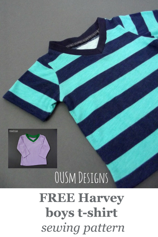 FREE Harvey boys t-shirt pattern