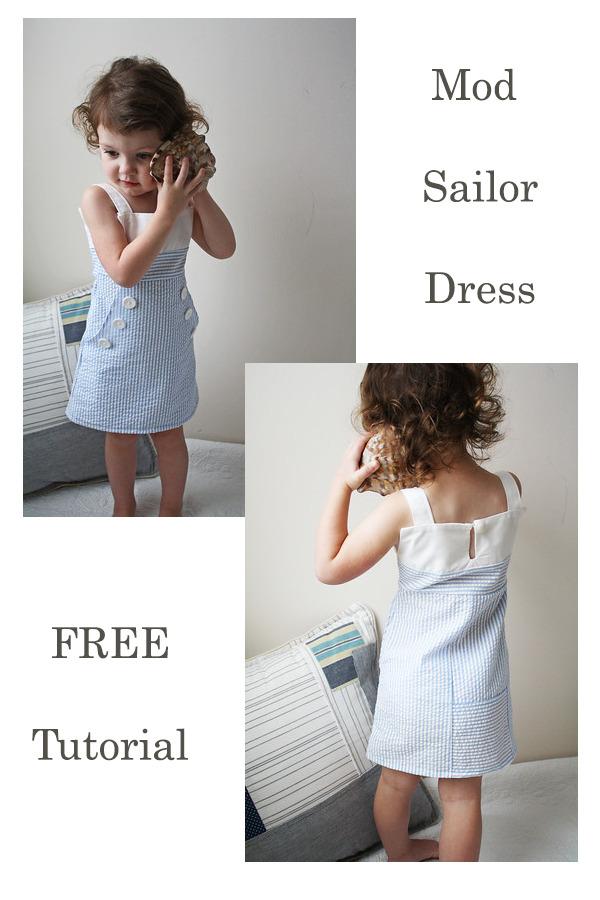 FREE Mod Sailor Dress Tutorial