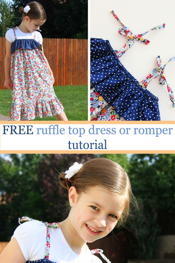 FREE ruffle top dress or romper tutorial