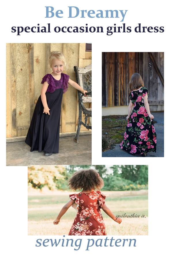 Be Dreamy special occasion girls dress sewing pattern