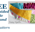FREE double sided fabric headband sewing pattern