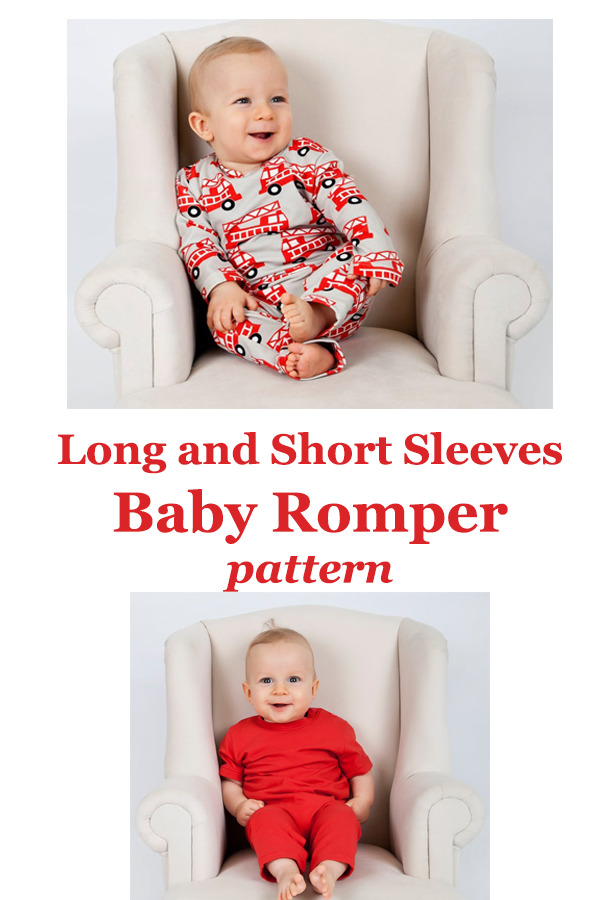 Long And Short Sleeves Baby Romper Pattern Sew Modern Kids
