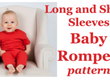 Long and Short Sleeves Baby Romper pattern