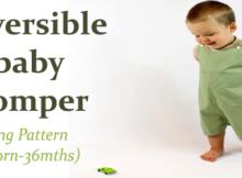 Reversible baby romper sewing pattern (newborn-36mths)